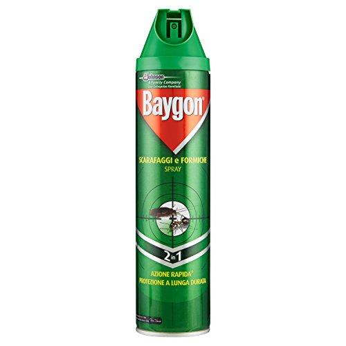 Preisvergleich Produktbild Insektenschutz Insetticida Spray Per Scarafaggi E Formiche Baygon Plus 400 Ml