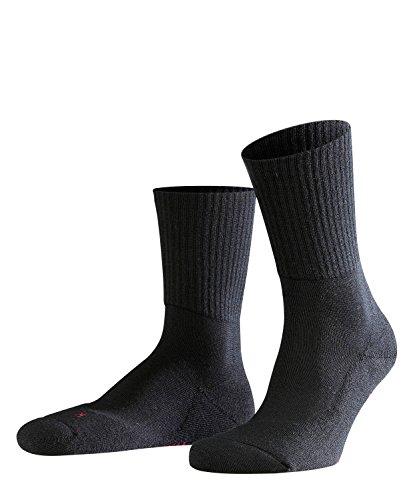 FALKE Unisex Socken Walkie Light, Schurwollmischung, 1 Paar, Schwarz (Black 3000), Größe: 44-45 -