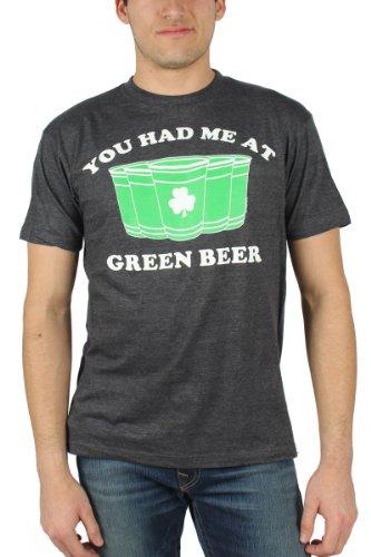 St. Patrick 's Day - Herren You had me at Green Beer T-Shirt in Schwarz Black