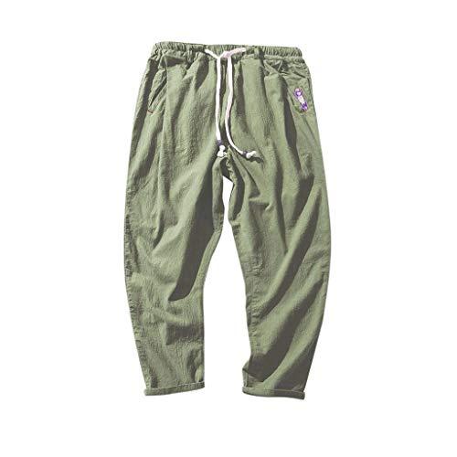Alaso Homme Pantalon de Sport Sarouel Couleur Unie Hip-hop Style Slim Fit Pants Décontracté Sportwear pour Fitness Yoga Jogging Voyager Loose Crotch Pants Respirant