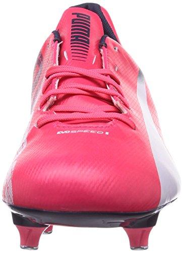 Puma Evospeed 5.3 Sg, Chaussures de football homme Rouge - Rot (bright plasma-white-peacoat 03)