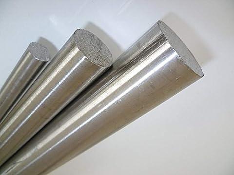 Rundmaterial Edelstahl Rund 1.4301/1.4305 blank gezogen h9 - 3 Stück ca. 1000 mm (3 Meter Stange geteilt) - A2 -AISI 304 (Durchmesser 6 mm, 2