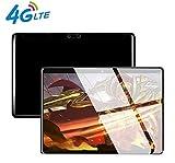 4G LTE-Tablet 10 Zoll (Octa-Core-Prozessor, 1920x1200 IPS, WLAN, 4 GB RAM, 64 GB interner Speicher, Android 7.0, Bluetooth, GSP, 4G-Netzwerk), 10,1 '' Tablet Schwarz