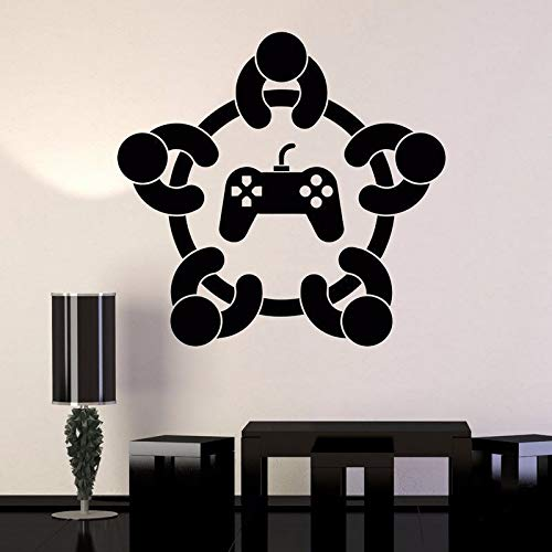 WWYJN Colors Art Vinyl Wall Sticker Gaming Quote Removeable Wall Decal Bedroom Saloon Wall Decor for Kid Gaming Poster57x55CM