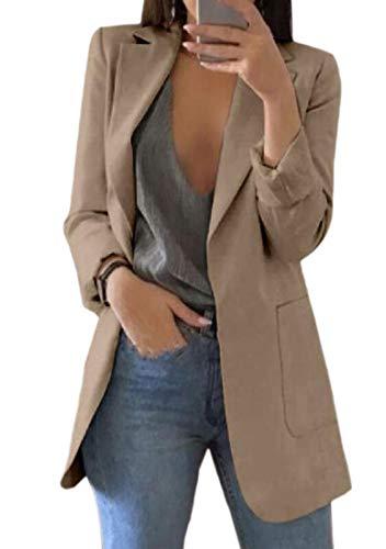 security-Langarm-Blazer für Damen, mit einem Knopf, eingekerbt Gr. US X-Large, Khaki (Blazer Chevy 1996)
