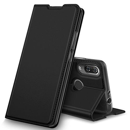 Wiko View 2 Pro Hülle, GeeMai Premium Flip Case Tasche Cover Hüllen mit Magnetverschluss [Standfunktion] Schutzhülle Handyhülle für Wiko View 2 Pro Smartphone, Schwarz