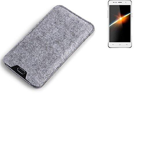 K-S-Trade Filz Schutz Hülle für Siswoo C50 Longbow Schutzhülle Filztasche Filz Tasche Case Sleeve Handyhülle Filzhülle grau
