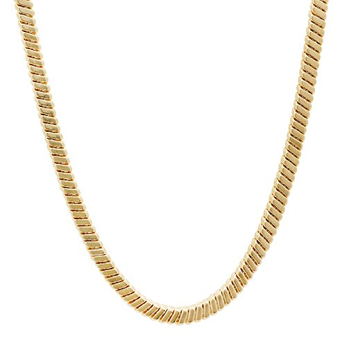 4mm 14k Gold Plated Snake Chain Necklace, 91 cm