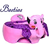 Besties Baby Soft Plush Cushion Cotton Baby Sofa Seat Infant Safety Car Chair Learn To Sit Stool Training Kids Support Sitting For Dining (Elephant Sofa Pink/Purple)