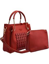 TAP FASHION Women's PU Leather Handbag And Sling Bag - Set Of 2