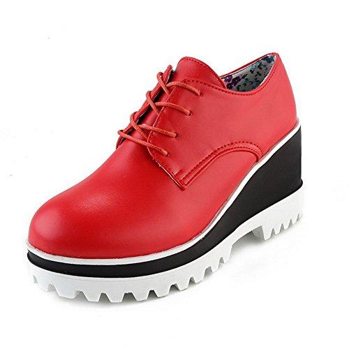 A&N - Scarpe con plateau donna Red