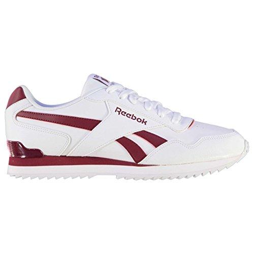 Reebok Herren Glide Rip Clip Turnschuhe Sportschuhe Sneaker Freizeit Schuhe White/Burgundy