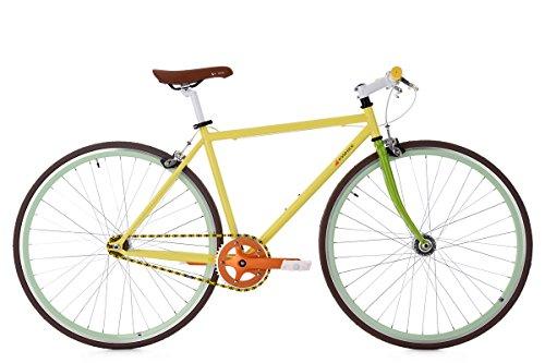 """KS Cycling Fixie Fitnessbike 28\"""" Essence gelb RH47cm"""