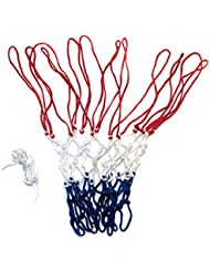Netball net 3mm twine made in Britian. (Blue White and Red)