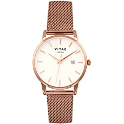 Rose Gold Walmer 40mm Watch by Vitae London