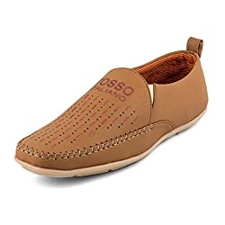 Rosso Italiano Mens Tan Loafers Shoe (ril499tn555)8