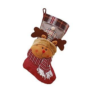 Weimay 1 UNIDS Decoraciones Navideñas de Calcetines de Caramelo Tela Pagada Gran bolsillo Lindo Muñeco de Nieve Decoración Navideña Casa Colgante Árbol Decoración Regalos Bolsa, 46 * 25 CM
