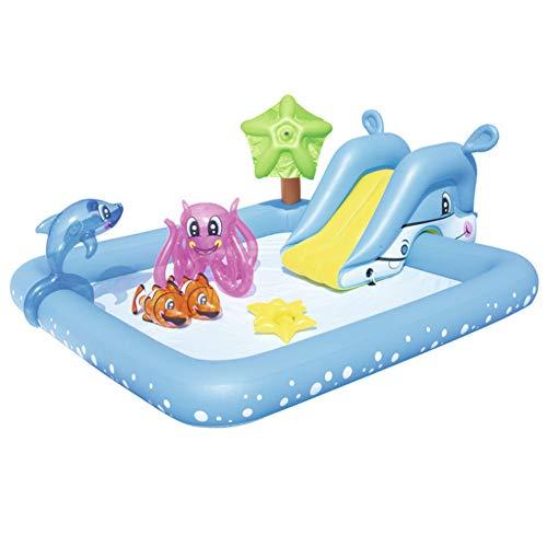 YL-light Piscina para niños 2.39mX2.06mX86cm Fantastic Aquarium Play Pool Baby Bath Pool Ball Piscina