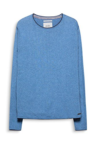 edc by ESPRIT Herren Pullover Blau (Petrol Blue 450)