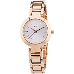 DKNY NY8833 Women's Quartz Analogue Watch-Bracelet Gold Plated Stainless Steel Pink