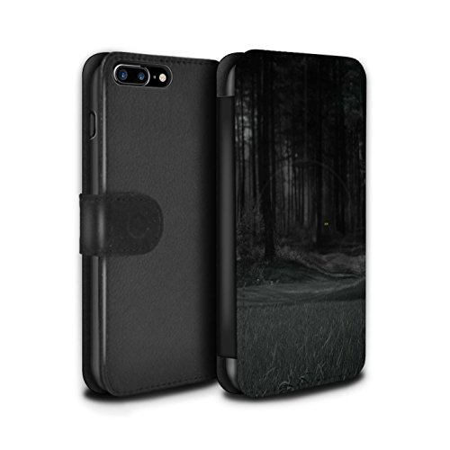 Stuff4 Coque/Etui/Housse Cuir PU Case/Cover pour Apple iPhone 7 Plus / Armageddon/Récolte Design / Extra-Terrestre Collection Yeux/Nuit