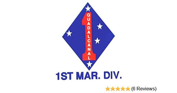 1ST MARINE DIVISIONGUADALCANAL DECAL OUTSIDE DECAL 4X3
