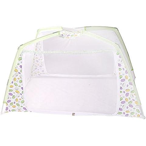 Baby Zanzariera, by Rechel, nursery, Zanzariera per Culla, 80x 130x 80cm Mesh per lettino Tenda da gioco con supporto (Verde) Green