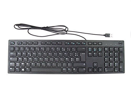 Dell Tastatur (Dell Slim-Tastatur, USB, AZERTY, KB216, Dell-Nr. R5KCK)