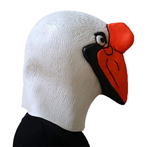 GXDHOME Halloween Latex Kopf Maske, Ente Langen Mund Vogel Kostüm Horror Scary Masquerade Gruselige Kostüm Kostüm
