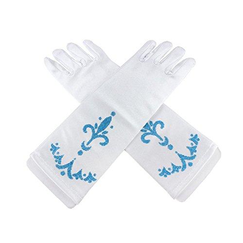 lifenewbaby Handschuhe für Damen, ideal für eine Party / einen Ball, Satin-Handschuhe, perfekt zum Kleid, tolles Geburtstags-/Weihnachtsgeschenk für kleine Mädchen von 3–5Jahren oder 8–10Jahren Gr. Größe L, weiß