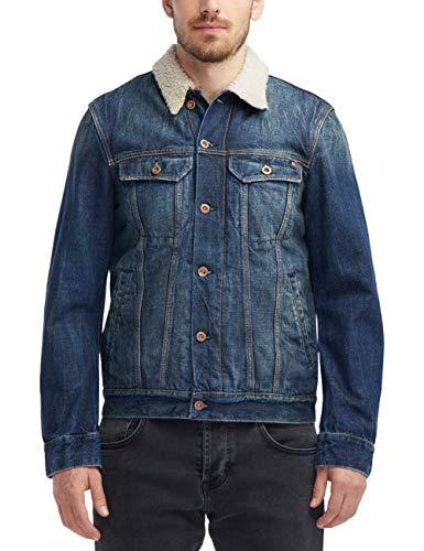 MUSTANG Herren Slim Fit Shearling-Jeansjacke Jeans -