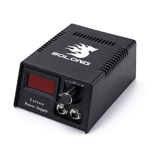 Nlne Tattoo Power Supply- Digital LCD Rotary Tattoo Power Supply Kit with Cord Fits for All Tattoo Machine Supplies - Power Cord Kit