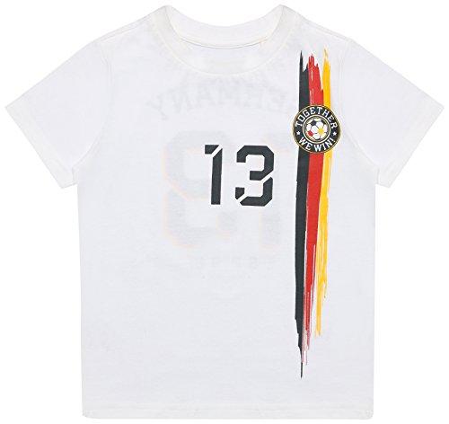 ESPRIT Kids Jungen T-Shirt RL1042403, Weiß (White 010), 104 (Herstellergröße: 104/110)