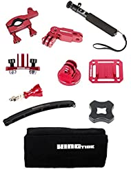 kingtide GoPro Mount Bundle Red 10 – Supports Set 10 pièces