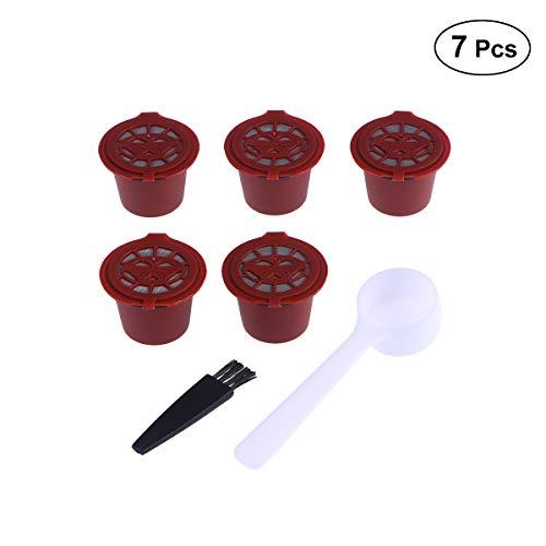 BESTONZON 5Pcs wiederverwendbare Kapseln Filter/Kapseln Pods/K Cups mit Löffel und Pinsel, geeignet...