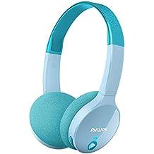 Philips SHK4000TL/00 - Auriculares inalámbricos Bluetooth para niños, color azul