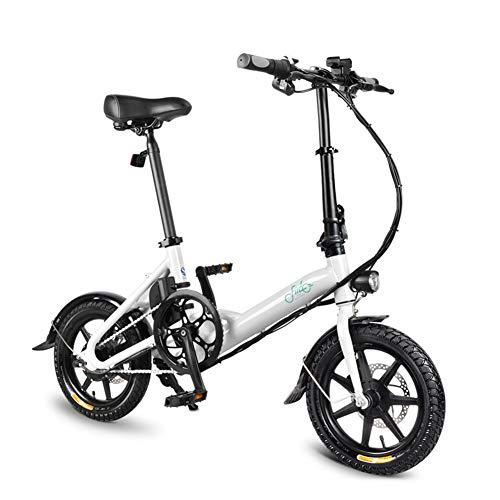 FIIDO E-Bike D3 Tiefeinsteiger E-Bike Elektrofahrrad Elektrische faltbar Fahrrad 250W 14 ZollReifen Ion Lithium 36V 7.8 Ah Akku Trekkingrad Weiß