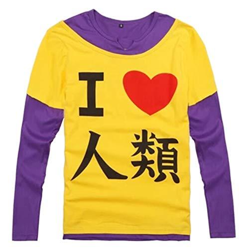 Kein Spiel Kein Leben The Game of Life Sora Cosplay imanity I Love The Human T Shirt Kostüm Asiatische Größe Gr. Größe L, gelb