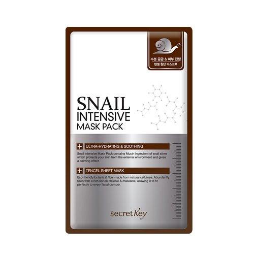 Secret Key - Snail Intensive Mask Pack - 10 x Gesichtsmasken / Hautmaske / Feuchtigkeitsmaske gegen Augenringe und Falten mit Schneckenschleim für Frauen und Männer - Beruhigende - Kreuzworträtsel Halloween-rätsel