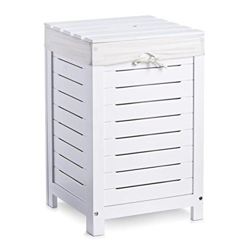 Zeller 13437 Wäschetruhe lackiert / 35 x 35 x 55, weiß