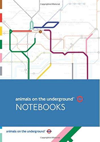 Animals on the Underground Set of 3 A5 Notebooks