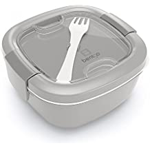 Bentgo Salad (Gray) - Conveniently Take Salads and Other Snacks On-the-go - Eco-Friendly & BPA-Free Lunch Container by Bentgo
