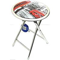 London Design, Sgabello pieghevole Sgabello Sedia pieghevole Chair-Sgabello rotondo con