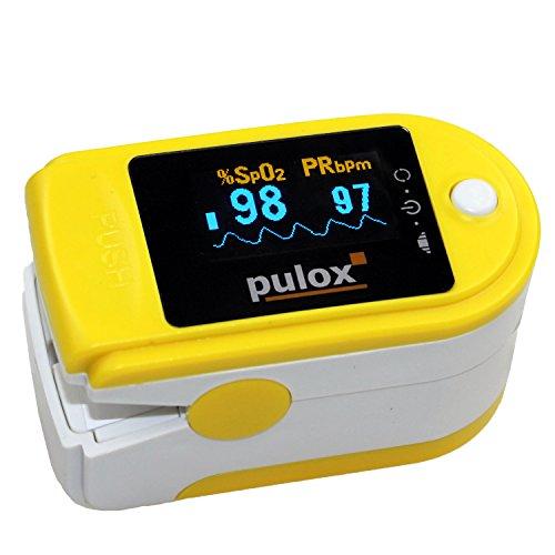 Pulsoximeter PULOX PO-200 mit OLED-Anzeige * Farbe: gelb * PZN:3314928
