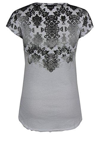trueprodigy Casual Damen Marken T-Shirt mit Aufdruck, Oberteil cool und stylisch mit Rundhals (kurzarm & Slim Fit), Top für Frauen bedruckt Farbe: Weiß 1072524-2000 White