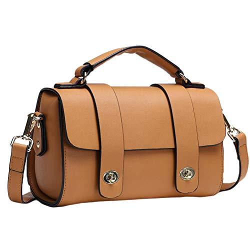 Damen Lederhandtasche, Umhängetasche Verstellbarer Schultergurt Mode Elegante Ledertasche...