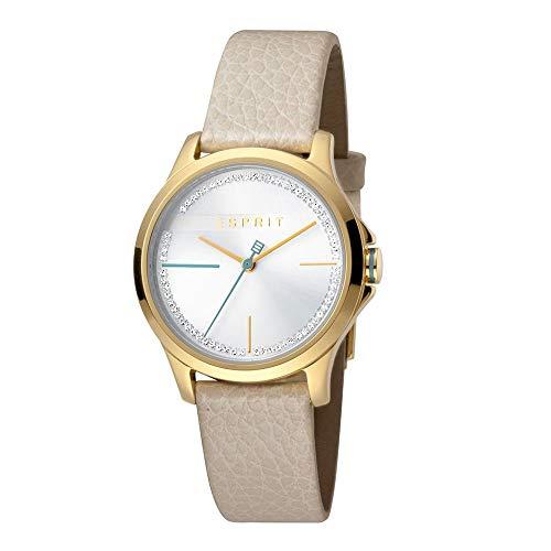 Esprit es1l028l0035Joy Silver Cream Mujer Reloj
