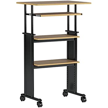 Safco Muv Cherry Stand Up Height Adjustable Workstation Amazon Co Uk