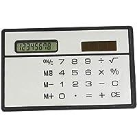Ogquaton Calculadora portátil de energía solar Calculadora táctil de mano Calculadora de escritorio de plástico Calculadora