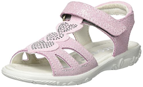 Ricosta Gina, Sandales  Bout ouvert fille Pink (Blush)